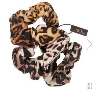 nOir Jewelry Ombré Leopard Print Scrunchies Set-3